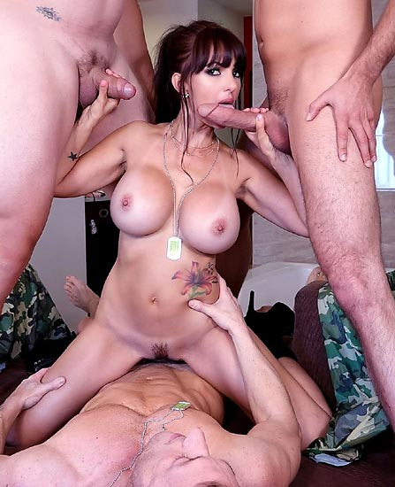 Catalina Cruz getting drilled during gangbang